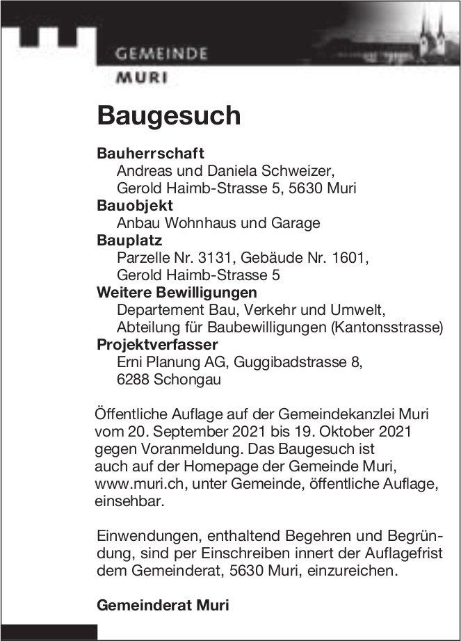Baugesuche, Muri - Erni Planung AG, Baugesuch