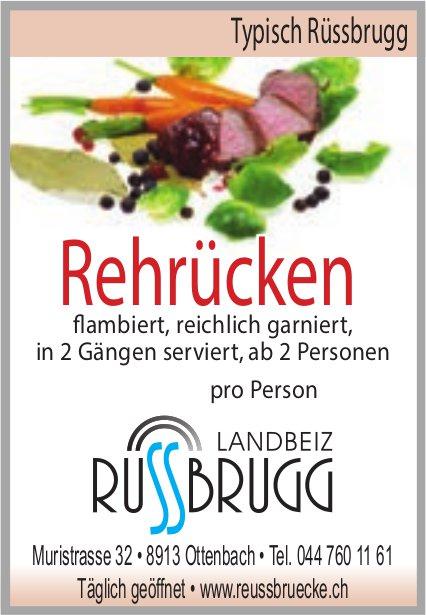 Landbeiz Rüssbrugg, Ottenbach - Rehrücken