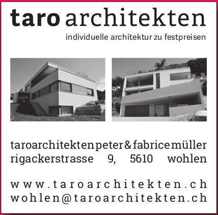 Taro Architekten, Wohlen - Individuelle Architektur zu Festpreisen