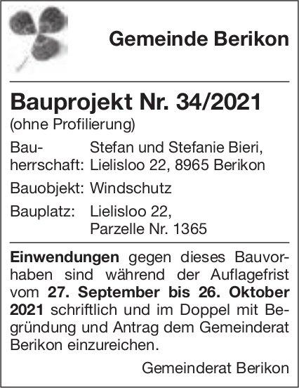Baugesuche, Berikon - Stefan und Stefanie Bieri