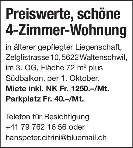 4-Zimmer-Wohnung, Waltenschwil, zu vermieten