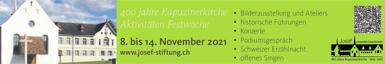 400 Jahre Kapuzinerkirche, Aktivität Festwoche, 8. bis 14. November