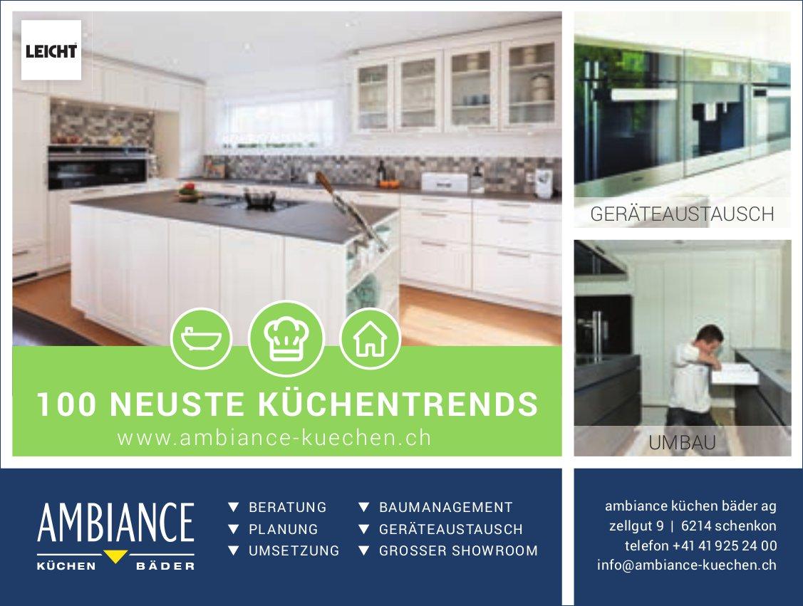 Ambiance Küchen Bäder AG, Schenkon - 100 Neuste Küchentrends