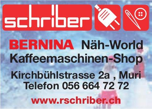 Schriber, Bernina, Muri - Näh-World,  Kaffeemaschinen-Shop
