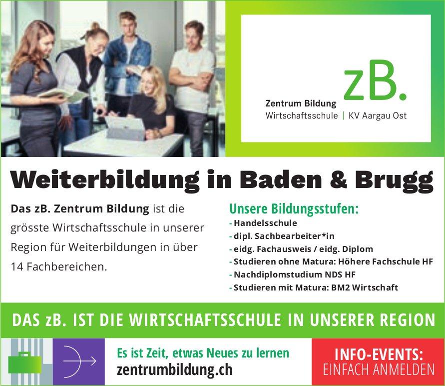 Zentrum Bildung, Wirtschaftsschule, Baden - Weiterbildung in Baden & Brugg