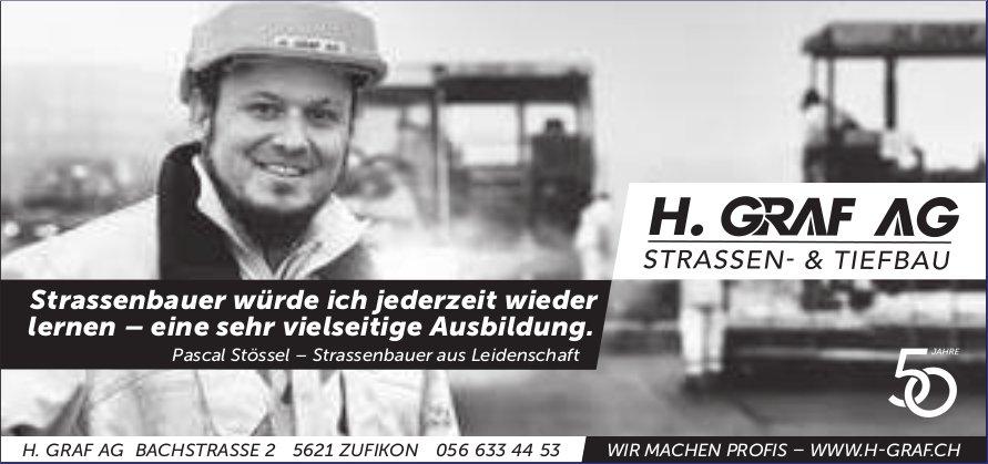 H. Graf AG, Zufikon - Strassenbauer würde ich jederzeit wieder lernen