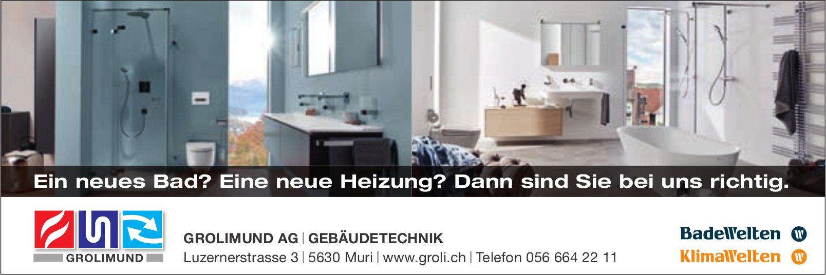 Grolimund AG, Gebäudetechnik, Muri - Ein neues Bad? Eine neue Heizung? Dann sind Sie bei uns richtig.