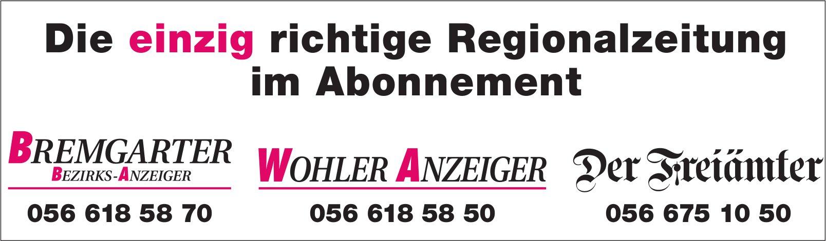 BBA/WA der Freiämter, Regionalzeitung