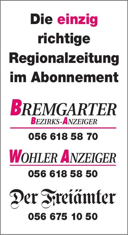 BBA/WA der Freiämter, Die einzig richtige Regionalzeitung im Abonnement
