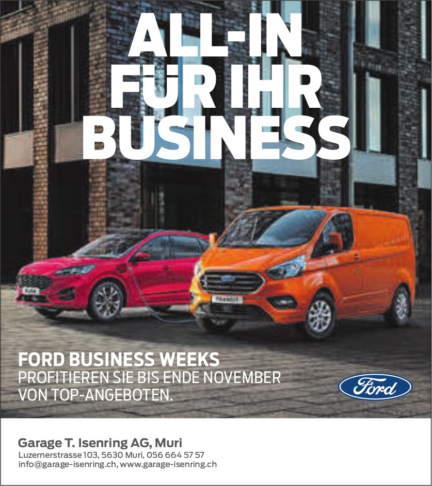 Garage T. Isenring AG, Muri - All-In für Ihr Business