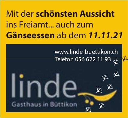 Gasthaus Linde, Büttikon - Mit der schönsten Aussicht ins Freiamt... auch zum Gänseessen ab 11. November