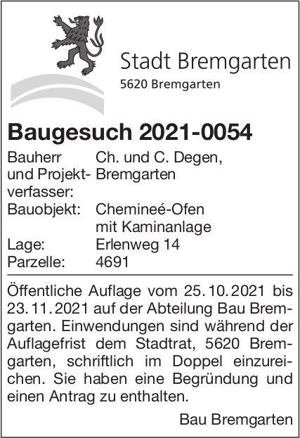 Baugesuche, Bremgarten - Ch. und C. Degen