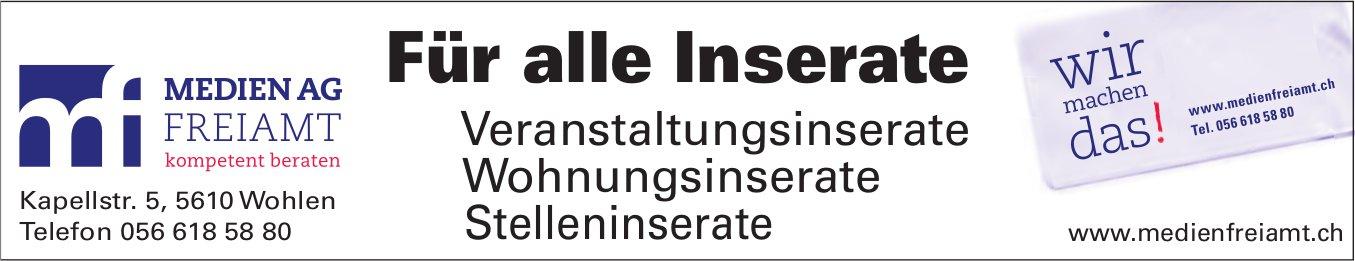 Medien AG Freiamt - Veranstaltungsinserate, Wohnungsinserate, Stelleninserate: Für alle Inserate