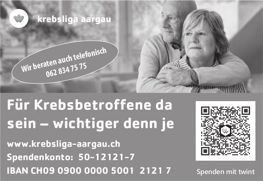 Krebsliga Aargau - Für Krebsbetroffene da sein – wichtiger denn je