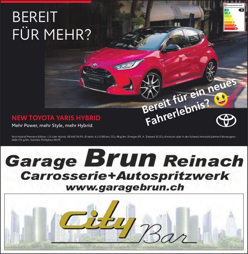 Garage Brun,  Carrosserie+Autospritzwerk, Reinach - New Toyota Yaris Hybrid. Bereit Für Mehr?
