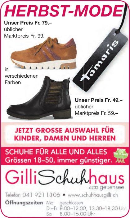Gilli Schuhhaus, Geuensee - Herbst-Mode