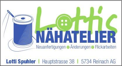 Lotti's Nähatelier, Reinach AG - Neuanfertigungen, Änderungen, Flickarbeiten
