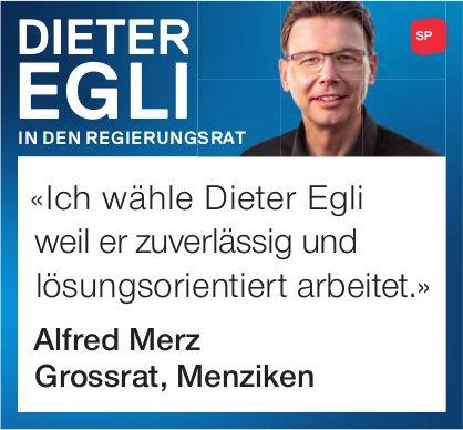 Dieter Egli in den Regierungsrat