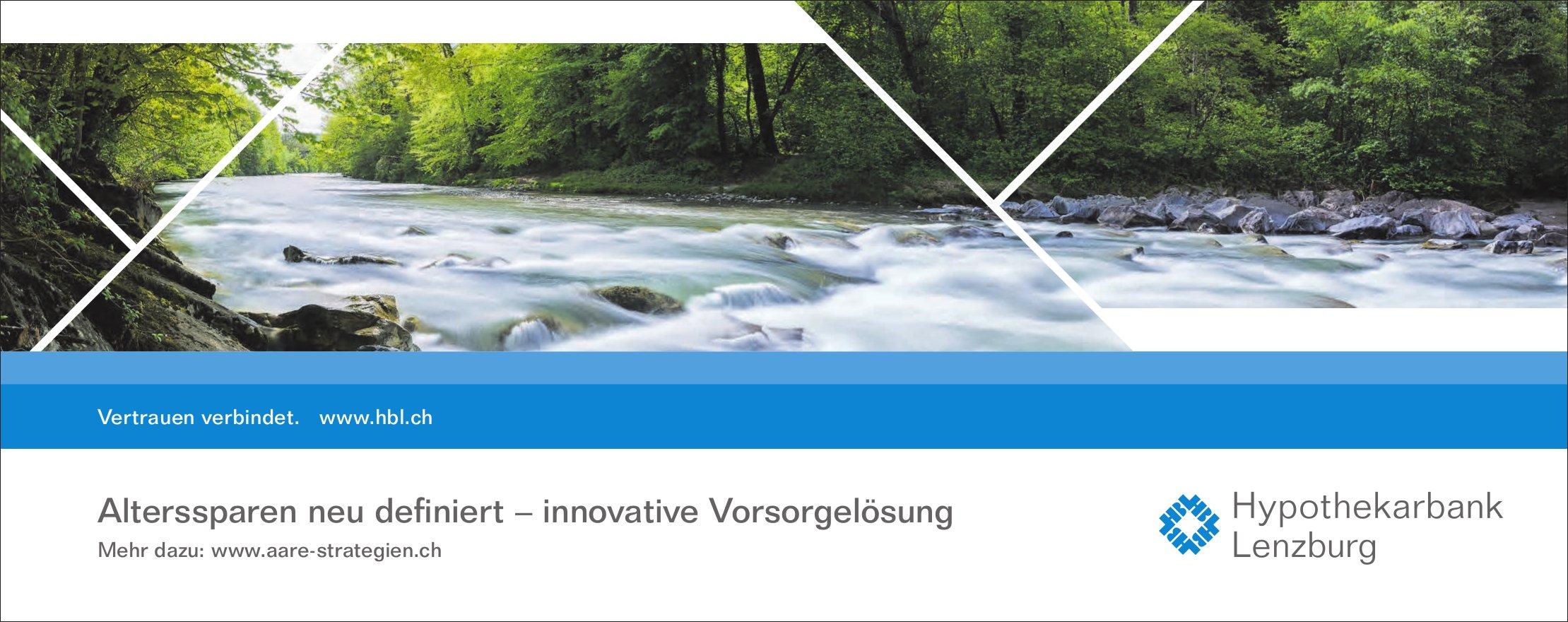Hypothekarbank Lenzburg -  Alterssparen neu definiert - innovative Vorsorgelösung
