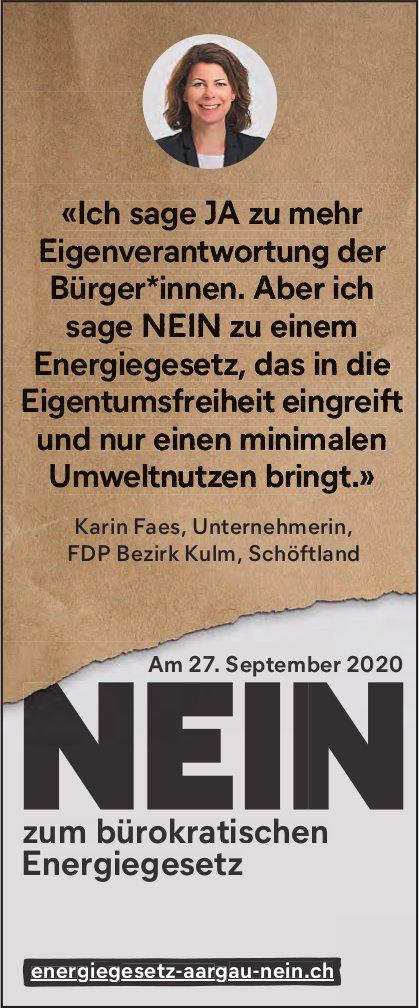 Nein zum bürokratischen Energiegesetz