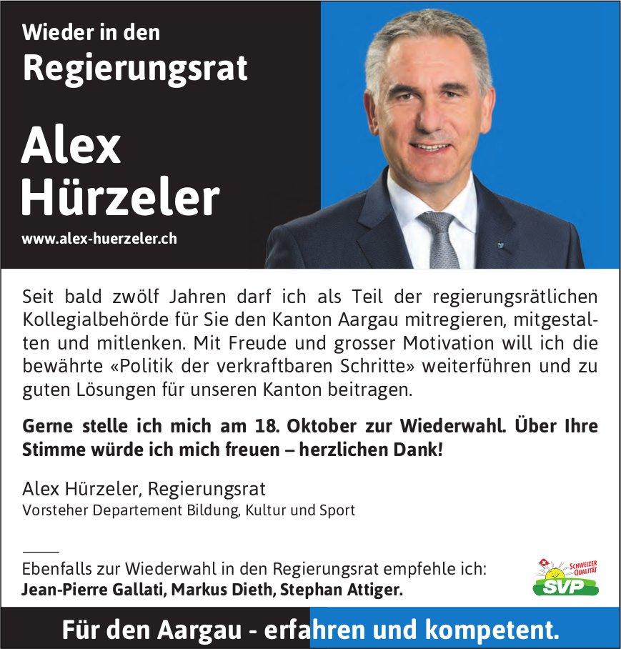 Alex Hürzeler wieder in den Regierungsrat