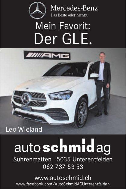 AutoSchmid AG, Unterentfelden - Mein Favorit: Der GLE.