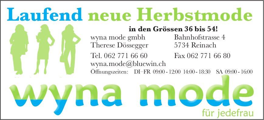 Wyna mode gmbh, Reinach - Laufend neue Herbstmode