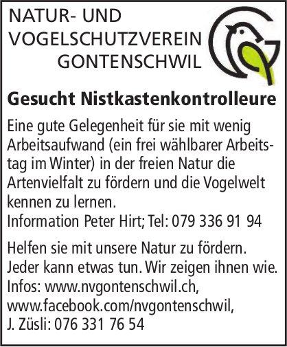 Nistkastenkontrolleure, Natur- und Vogelschutzverein, Gontenschwil, gesucht