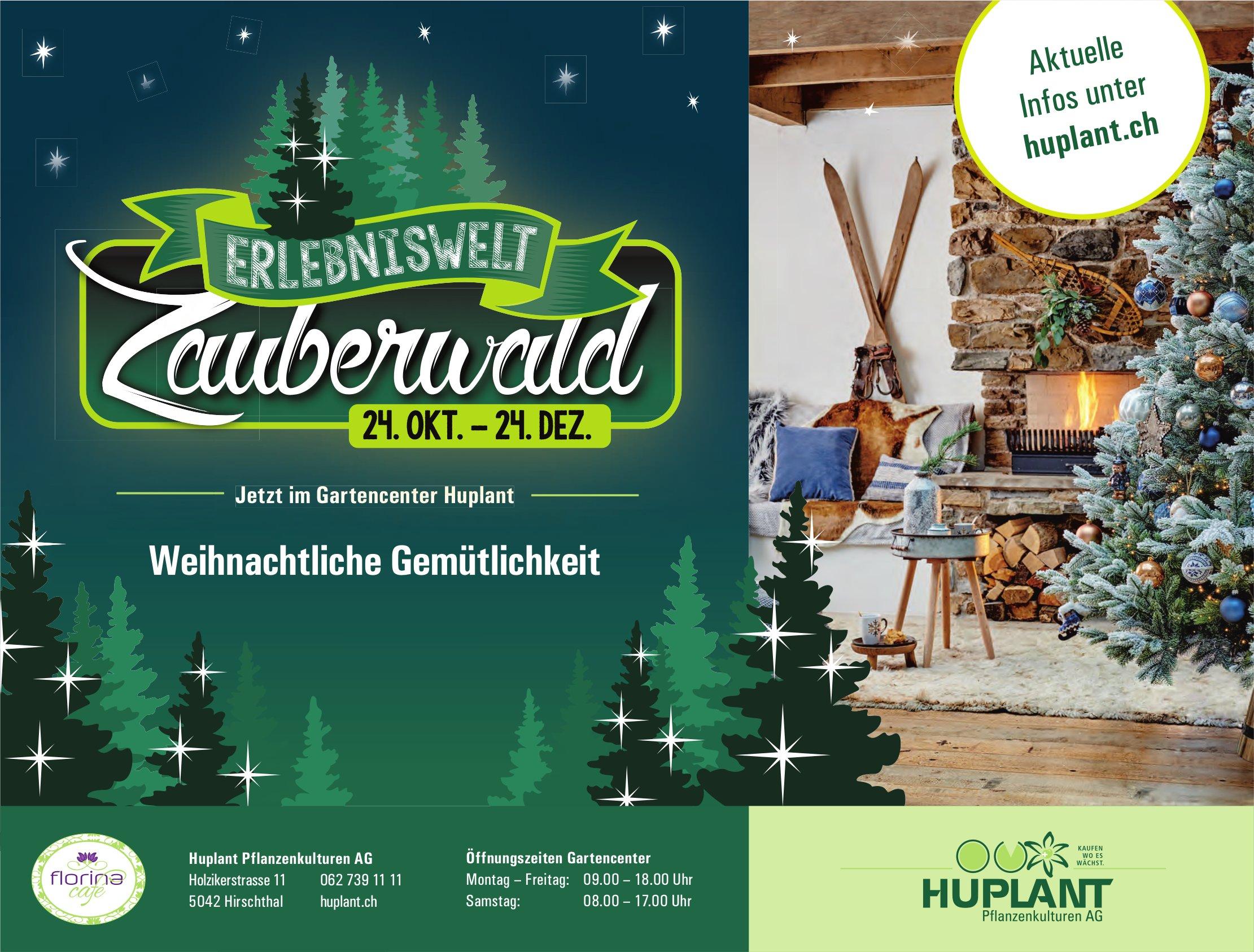 Erlebniswelt Zauberwald, 24. Oktober - 24. Dezember, Gartencenter Huplant, Hirschthal