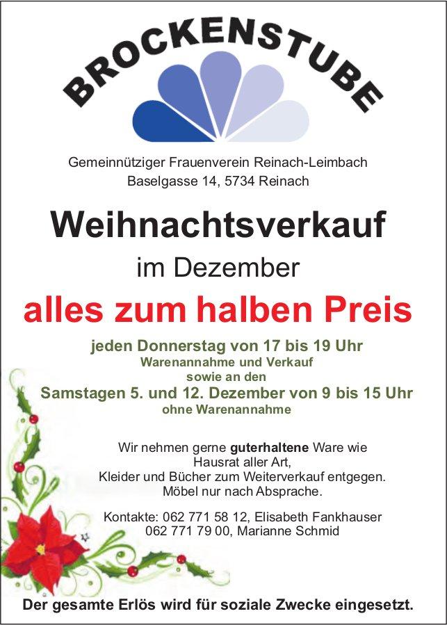 Brockenstube, Reinach-Leimbach - Weihnachtsverkauf, alles zum halben Preis