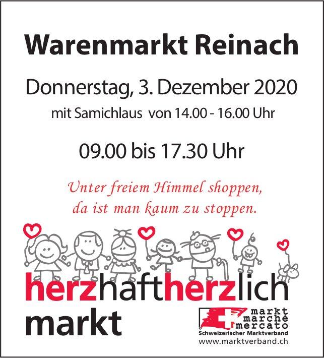 Warenmarkt mit Samichlaus, 3. Dezember, Reinach