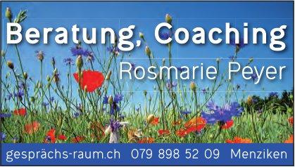 Rosmarie Peyer, Beratung, Coaching, Menziken