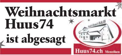 Menziken - Weihnachtsmarkt Huus74 ist abgesagt