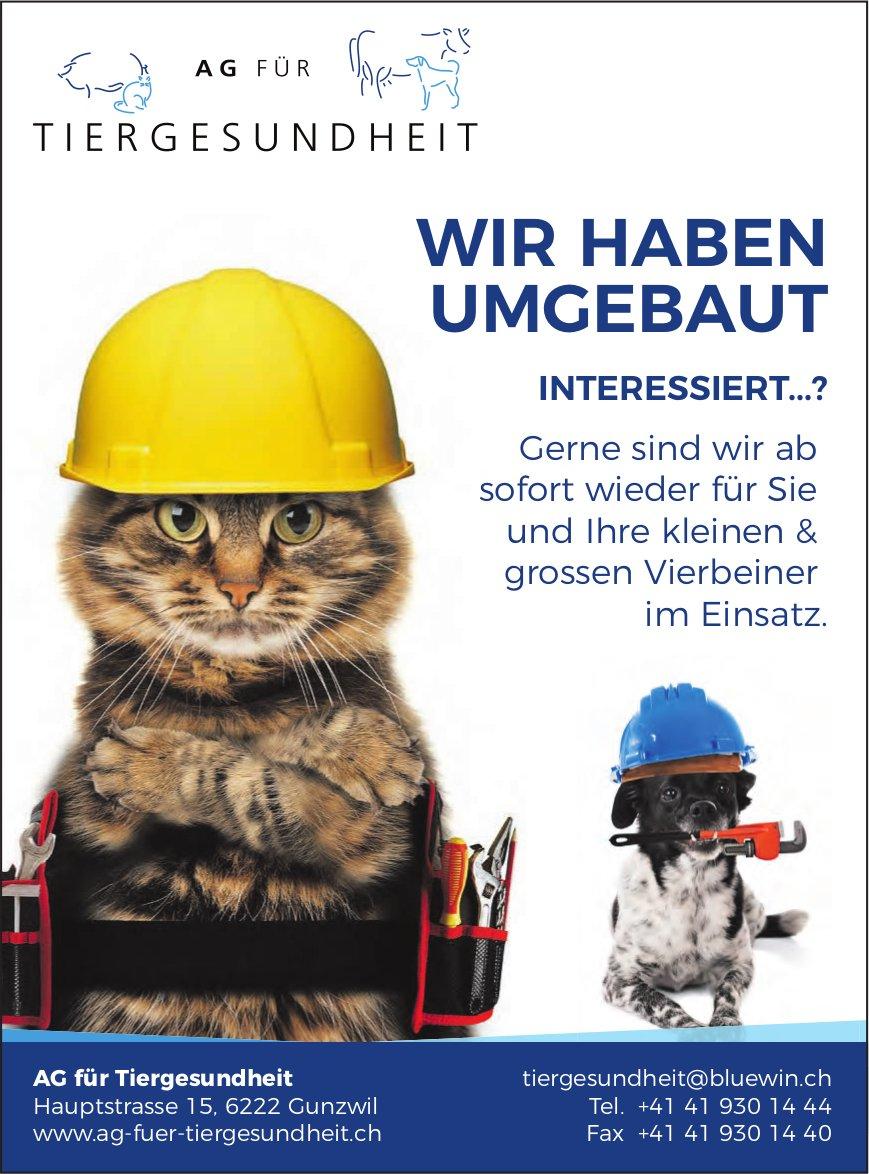 AG für Tiergesundheit, Gunzwil - Wir haben umgebaut