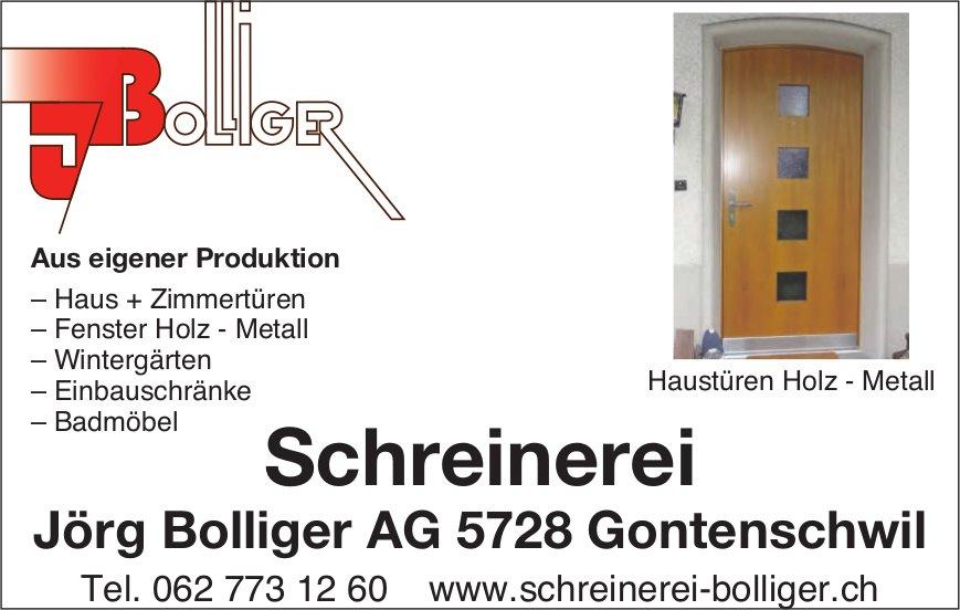Schreinerei Jörg Bolliger AG,  Gontenschwil - Haustüren Holz - Metall