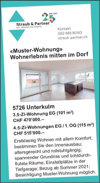3.5- und 4.5-Zimmer-Wohnungen, Unterkulm, zu verkaufen