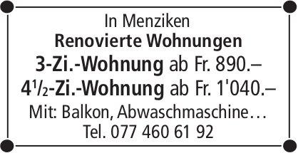 3-Zi.-Wohnung & 4.5-Zi.-Wohnung, Menziken, zu vermieten