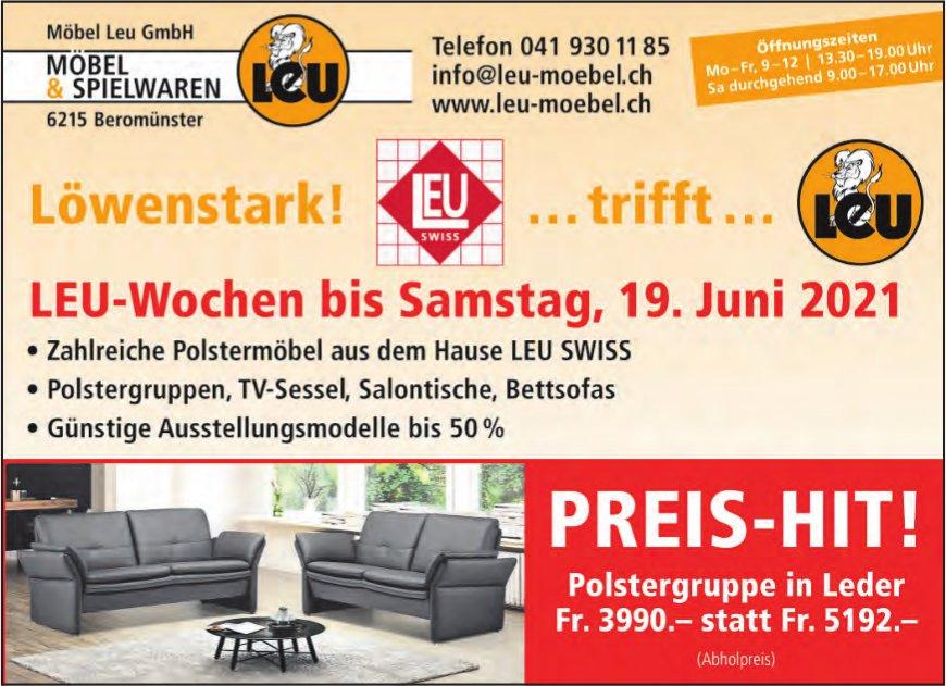 LEU-Wochen, bis 19. Juni, Möbel Leu GmbH, Beromünster