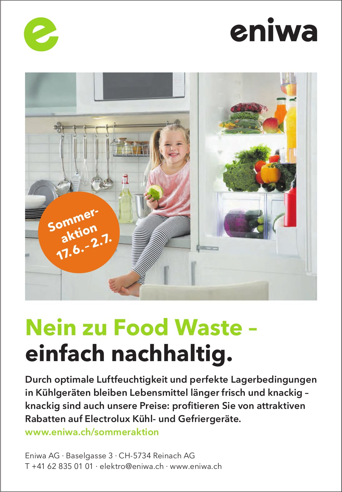 Eniwa AG, Reinach AG - Nein zu Food Waste – einfach nachhaltig.