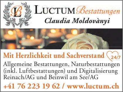 Luctum Bestattungen, Reinach & Beinwil am See - Mit Herzlichkeit und Sachverstand