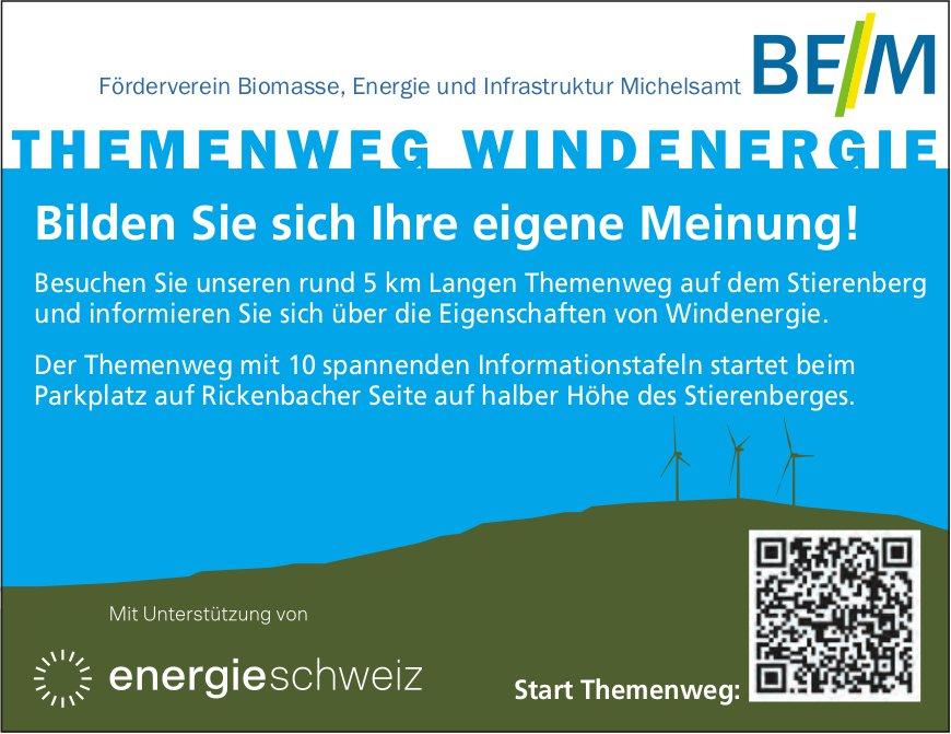 Themenweg Windenergie, Stierenberg - Bilden Sie sich Ihre eigene Meinung!
