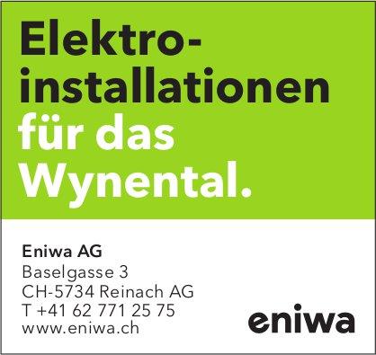 Eniwa AG, Reinach AG - Elektroinstallationen für das Wynental.