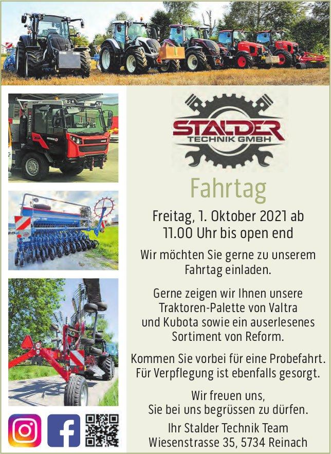Fahrtag, 1. Oktober, Stalder Technik GmbH, Reinach